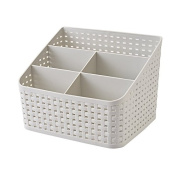 5 Grids Remote Control Caddy Desk Organiser Cosmetic Container Box