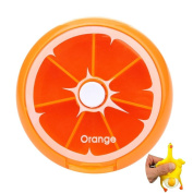 MAXGOODS Orange Weekly Pill Box Large Medicine Organiser ,with a Free Squeeze Toys