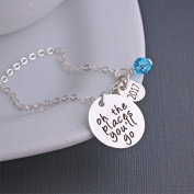 Ingooood 2017 Inspirational Necklace Oh the place you'll go Pendant Necklace Jewellery Graduation Gift