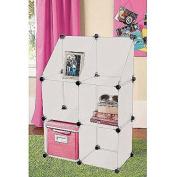 Urban Shop Snap-It Plastic Six-Cube Shelving Units, White
