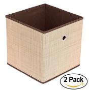 Internet's Best Canvas Storage Bin - 2 Pack - Brown - Box Container