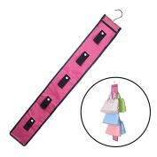 xhorizon TM FL1 10 Hooks Hanging Handbag Closet Organiser Purse Storage with Swivel Hanger
