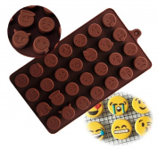 Emoji Chocolate Mould Silicone Candy Cake Sugar Moulds DIY