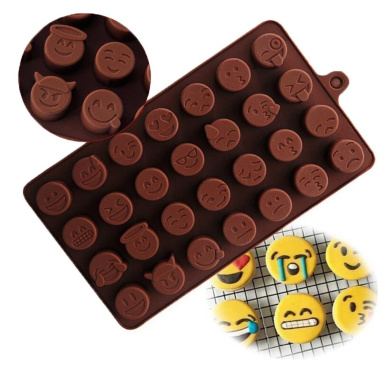 Emoji Chocolate Mould Silicone Candy Cake Sugar Moulds DIY