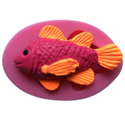 MOLLYSKY Fish Shape Chocolate Cupcake 3D Silicone Mould Kitchen Accessories,Pink