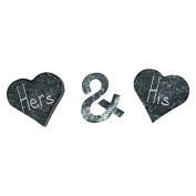 SPARQ Set (Etched Heart, Ampersand), Soapstone