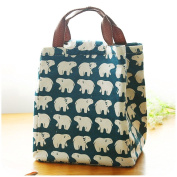 Cookey Cute Reusable Cotton Lunch Bag Insulated Lunch Tote Soft Bento Cooler Bag
