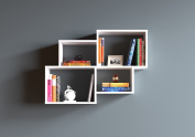 BEND Wall Shelf - Bookcase - Book shelf - Floating shelf for living room decoration in modern design ...