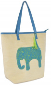Elephant Design Shoulder / Beach / Shopping Bag with Lining
