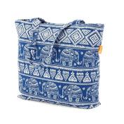 Elephant Print Beach Bag Shopper Tote