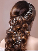 Aukmla Headpieces Jewellery with Crystal, Fashion Headband and Hair Accessories for Women and Girls