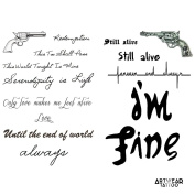 "Temporary Tattoo (water transfert) ArtWear Tattoo ""Save Me"""
