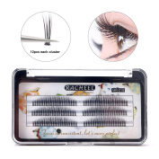 False eyelashes LuckyFine Korean sea dragon Material Mixed Hair 7-11mm Volume 0.07 Natural Comfortable Grafting Eyelashes