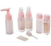AiSi Air Travel Various SizeS Bottle Set Spray Travel Portable Cosmetic Shampoo Bottles Perfect for Hand Luggage Liquids