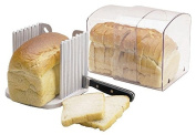 Breadkeeper with Slicing Guide For Storing Bread
