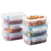 Komax Biokips Food Storage Container 440ml (set of 6) - Airtight, Leakproof With Locking Lids - BPA Free Plastic - Microwave, Freezer and Dishwasher Safe - Compact Size to Store in Pantry
