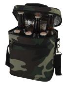 Primeware Beer Bag Camo Insulated 6 Bottle Beverage Carrier