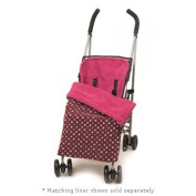 BB010 Stay-Put Reversible Buggy Blanket. Pink polka dot