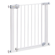 buyonlineforbaby Baby Infant Safety Stair Door First SecureTech Simply Close Metal Gate White