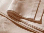HnL Royal Cotton Hang Up 100% Cotton Percale Flat Sheet, mako satin, bleached sand, 160 cm x 260 cm