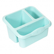 Duck Egg Blue Plastic Kitchen Sink Storage Caddy / Cutlery Drainer