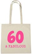 60 & Fabulous Tote Bag, 60th Birthday Gift Bag for Women