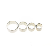 LUFA 4pcs/set Stainless Steel Round Cake Cookie Cutters Pastry Jelly Making Moulds