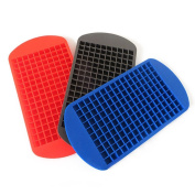 BESTOMZ 160 Ice Cubes Mould Small Square Ice Lattice Grid DIY Silicone Mould Tray Kitchen Tool,Random Colour