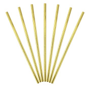 Ipalmay 500 PCS Metallic Gold Solid Paper Drinking Straws, Vintage Paper Straws for Baby Shower, Weeding and Parties