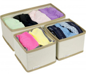 Greenco Non-Woven Foldable 3 Piece Drawer And Closet Storage Cube Set-