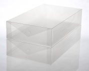 Ybmhome Plastic Shoe Box Shoe Storage Foldable Clear Container for Closet, Shelf Organiser 2189 (Boot Box