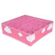 diffstyle 3 in 1 Grid Storage Boxes Organiser Folding Closet Drawer Divider Boxes for Ties Socks Bra Underwear Organiser