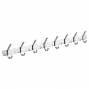 Amzdeal Coat Hook Rack Stainless Steel Wall Mounted Coat Hanger, 8 Hooks