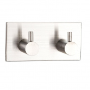 Homeself 304 Stainless Steel Bathroom Lavatory Closets 3M Self Adhesive Coat Towel Robe Hook
