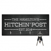 Personalised Chalkboard Hitchin' Post Key Hanger