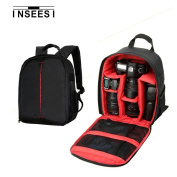 Kilos INSEESI Processional Backpack For SLR Camera Bag For Canon For Nikon For Sony Durable Waterproof 600D Nylon Cameras Bag (6.88*4.9*34cm )