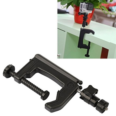 Mount , Table Clamp Desktop Holder Mount + Tripod Adapter for GoPro HERO4 / 3+ / 3 / 2 / 1, Clamp Size: 1 - 6 cm