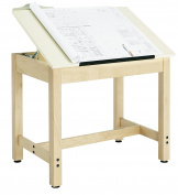 Diversified Woodcrafts DT-9A30 UV Finish Solid Maple Wood Art/Drafting Table with Plastic Laminate Top, 90cm Width x 70cm - 1.9cm Height x 60cm Depth