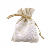 Burlapfabric.com Burlap and Lace 7.6cm x 10cm Favour Bags for Rustic Weddings - Set of 120