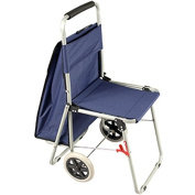 The ArtComber Folding Big Wheeled Portable Rolling Chair / Art Cart With Storage - Blue