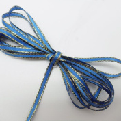 """Double Faced Satin Ribbon With Gold Edge 0.3cm """" X 100 Yards - B4008"""