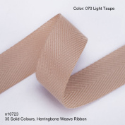 Neotrims 19mm Herringbone Twill Tape Woven Soft Ribbon Trimming 35 Fashion Colours, Lt-Taupe
