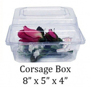 Boutonniere Flower Box Clear Prom Wedding Corsage Craft Container w/ Crafting eBook