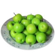 Outtop 50 Pcs 3D Artificial Plastic Apple Fruit Real Touch for Home Decoration Decor
