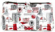 Lulu Guinness London Print Double Cosmetic Make-up Bag