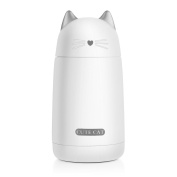 ONEISALL SB60239 Cute Cat Thermos Kids Water Bottle Stainless Steel Travel Thermos Coffee Mug Portable Vacuum Flask for Kids & Adults, 330ml