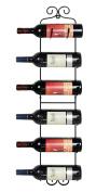 ESYLIFE Wall Mounted Wine Towel Rack, 6 Bottles, Upgrade Style