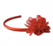 La Senorita Spanish Flamenco Headband - Red with red flower