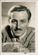 WALT DISNEY AUTOGRAPH GLOSSY PHOTO PRINT
