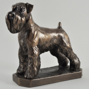 SCHNAUZER DOG COLD CAST BRONZE SCULPTURE DOGS BRAND NEW AND BOXED